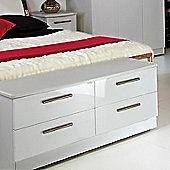 Welcome Furniture Knightsbridge 4 Drawer Bed Box - White - White