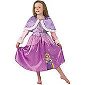 Child Disney Rapunzel Costume With Cape Large
