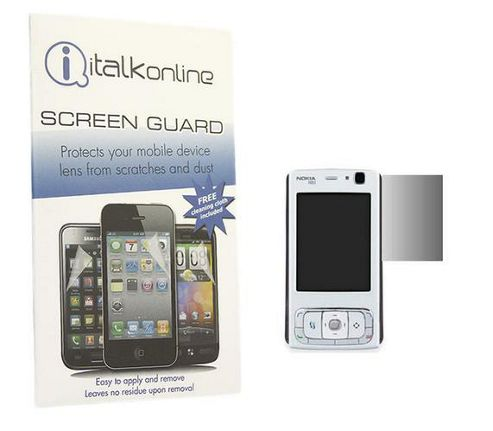 iTALKonline S-Protect LCD Screen Protector and Micro Fibre Cleaning Cloth - For  Nokia N83