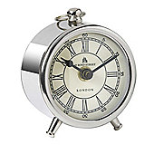 Parlane Classic Stainless Steel Desk Clock - 10 x 5cm