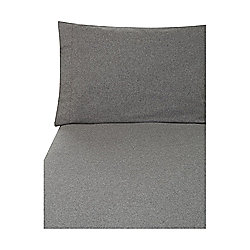 Grey Flannel Fitted Sheet Double