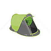 Yellowstone 2 Man Camping Fast Pitch Tent 2 Season Lime
