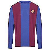 Barcelona 1974 Home Shirt - Claret & Blue
