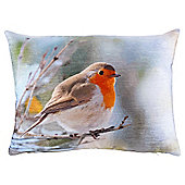 Christmas Robin Photographic Cushion