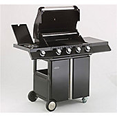Lifestyle Ebony Deluxe 4 burner Gas Barbeque with Sideburner