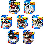 Hot Wheels Star Wars Exclusive Diecast Cars Complete Set of 7