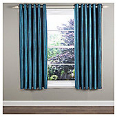 "Ripple Lined Eyelet Curtains W229xL229cm (90x90"") - - Teal"