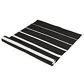 Eightmood Degrade Black Plain Rug - 70 cm x 200 cm (2 ft 4 in x 6 ft 7 in)