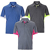 Woodworm Heather Golf Mens Golf Polo Shirts 3 Pack - Multi