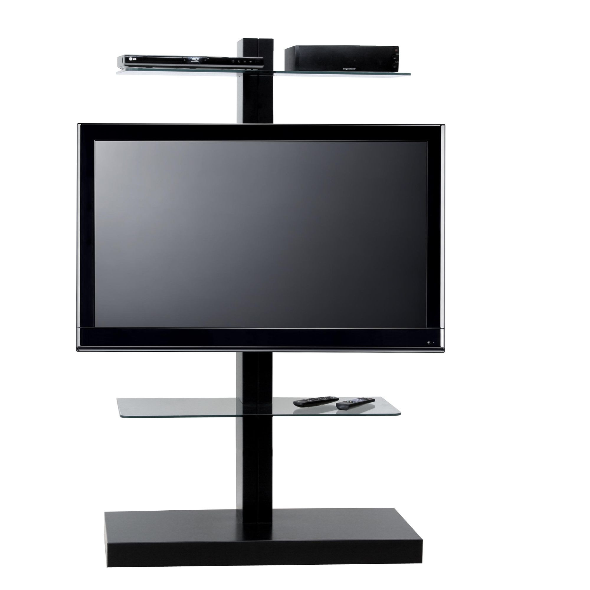 OMB Jolly Tower 2 TV Stand - Black at Tesco Direct