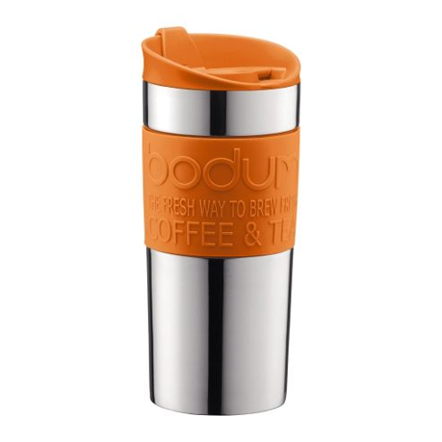 Buy Bodum 0.35L Stainless Steel & Orange Travel Mug from our Travel Mugs range - Tesco