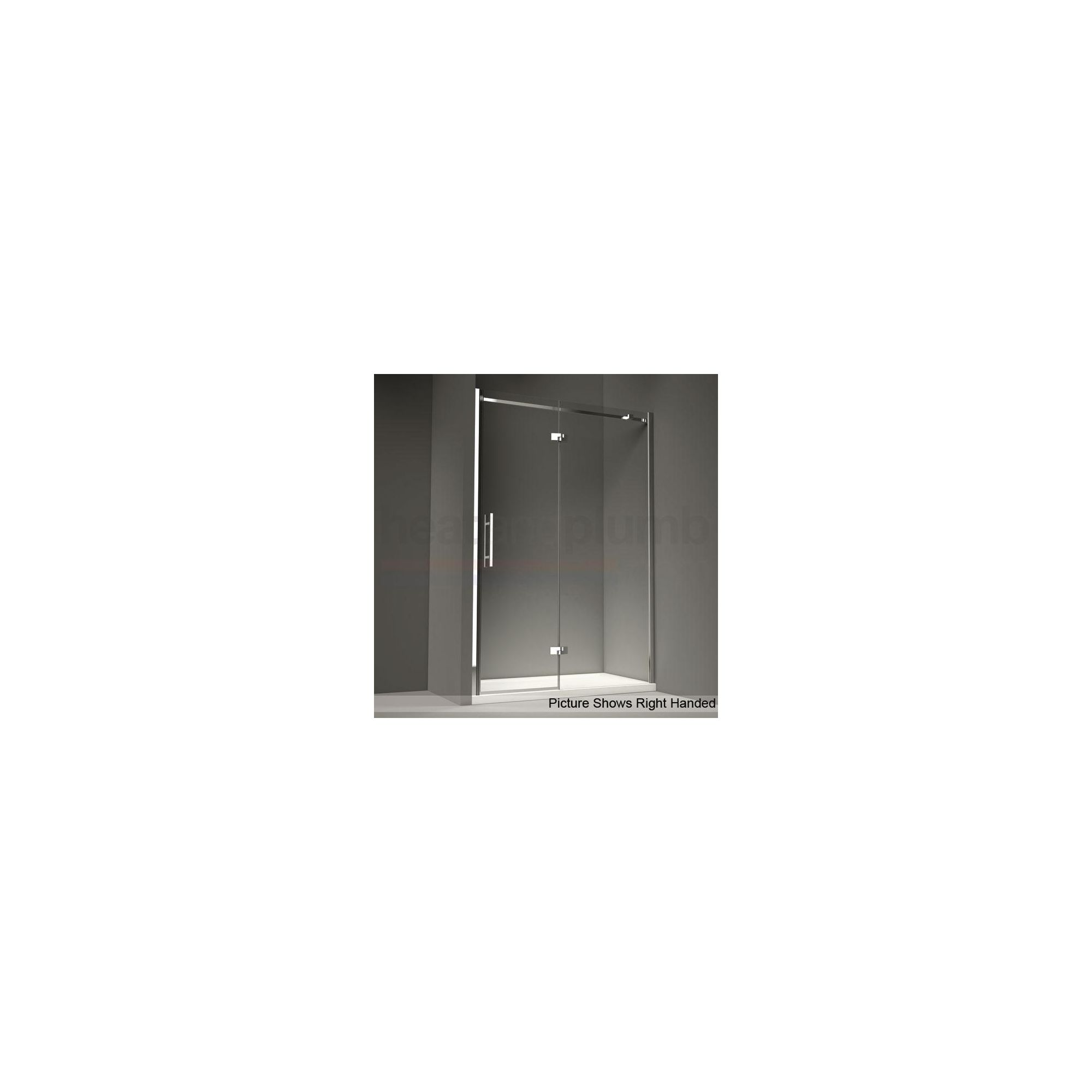 Merlyn Series 9 Inline Hinged Door ALCOVE Shower Enclosure 1100mm x 800mm (Complete with Tray) - 8mm Glass at Tesco Direct