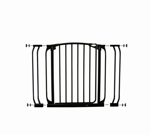Dream Baby Swing Close Security Gate with Extensions - Black