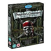 Pirates Of The Caribbean 1-4  (Blu-Ray Boxset)
