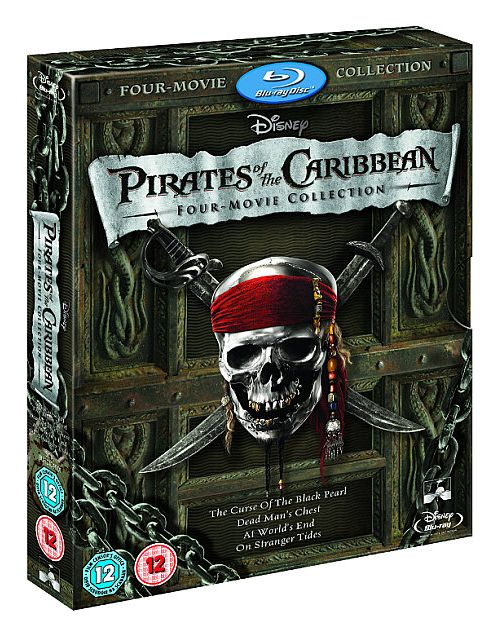 Pirates Of The Caribbean 1-4  (Blu-Ray Boxset)