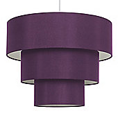 Vermont Three Tier Ceiling Pendant Light Shade in Purple