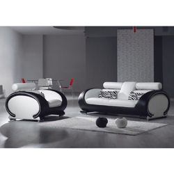 Giomani Designs Gio Two Seater Sofa - Black and White