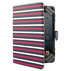 "Tesco Universal Tablet Case 7 to 8""(for Kindle Fire/HD, iPad Mini, Samsung Tab) - Blue Pinstripe"