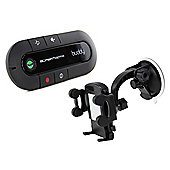 SuperTooth Buddy 2.1 Handsfree Bluetooth Visor Car Kit with In-Car Phone Holder - Black