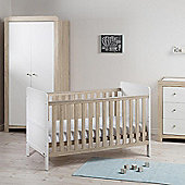 East Coast Fontana Ice Collection - Cot Bed, Double Wardrobe and Dresser