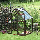 Elite Craftsman Greenhouse – 6 x 4 - Terracotta Powdercoat Finish – Horticultural Glass