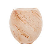 Casa Couture Glass Marble Tumbler In Grey