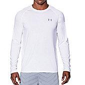 Under Armour Mens Longsleeve Tech T-Shirt 2.0 Top - White