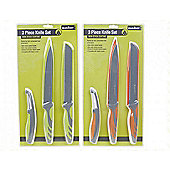 Summit 3 Piece Non-Stick Knife Set with Peeler