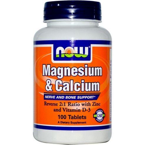 Now Magnesium & Calcium 100 Tablets