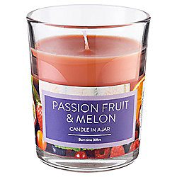Tesco Candle In A Jar Passion, Fruit & Melon