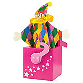 Bigjigs Toys BJ678 Jack-in-a-Box Pink