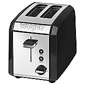 Waring WT200BKU 2 Slice Toaster - Black & Stainless Steel