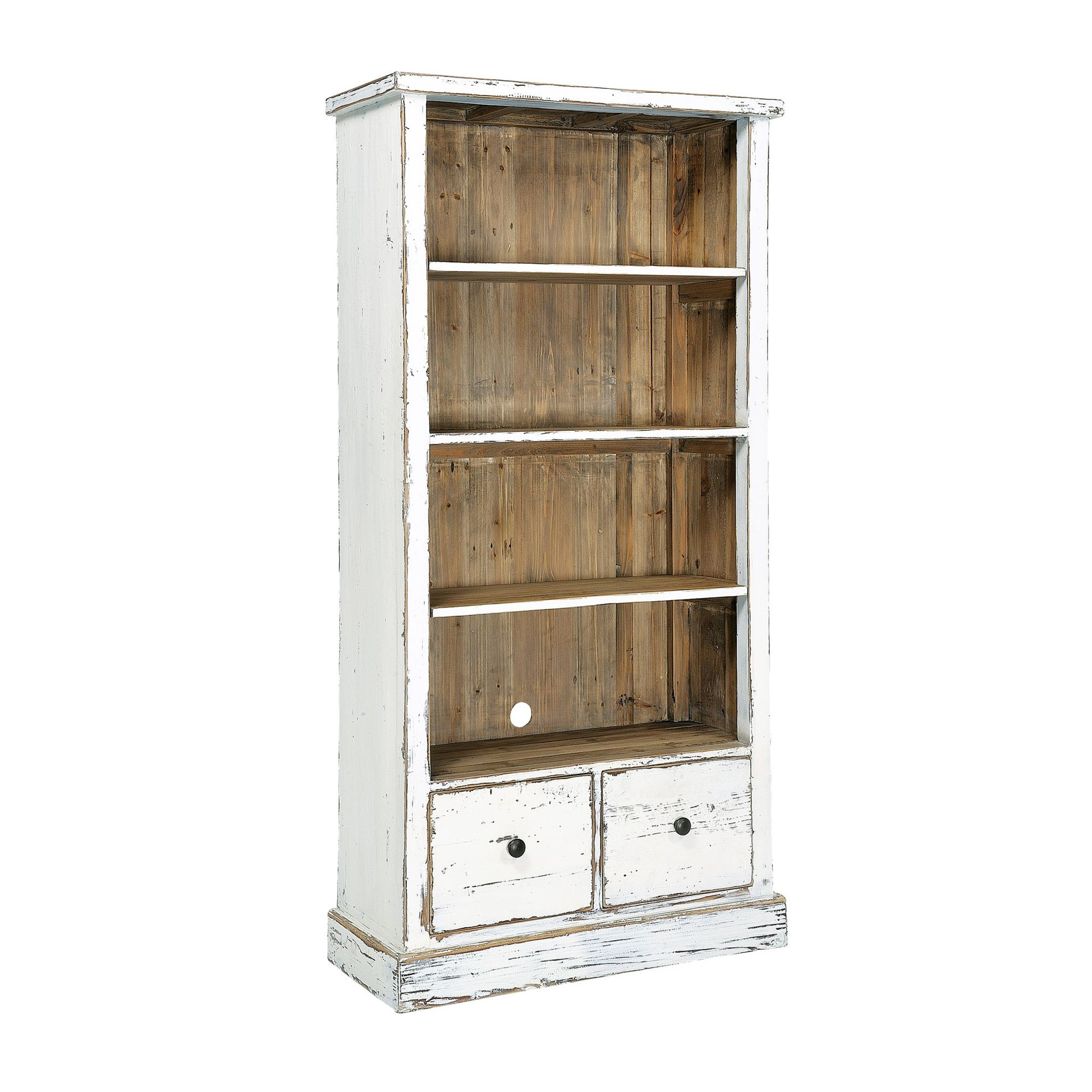 Rowico Aspen Bookcase - White Distress Painted at Tesco Direct