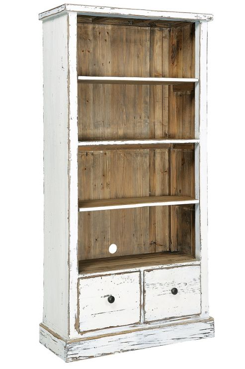 Rowico Aspen Bookcase - White Distress Painted
