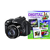 DS Canon Powershot SX50 Camera Black + Photoshop Elements 10