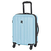 IT Luggage Ultra Strong 4-Wheel Hard Shell Suitcase, Blue Small