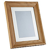 "Tesco Solid Oak Frame 5""x7""/4""x6"" with Mount"