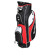 Confidence Pro Ii 14 Way Divider Golf Cart / Trolley Bag Red