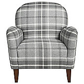Lausanne Armchair Check, Charcoal