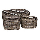 Eightmood 3 Pieces Picnic Basket Set - Taupe