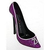 Stiletto - Wine Lover Shoe Bottle Holder - 21st Birthday - Purple