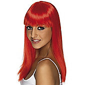 Adult Glamourama Wig NEON RED