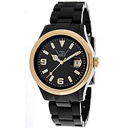LTD Classic Unisex Black Plastic Date Watch 0316D