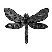 Wall Mountable Black Cast Iron Dragonfly Garden Ornament