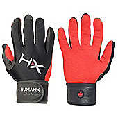 HumanX X3 Mens Competition Full Finger WristWrap Gloves - Black