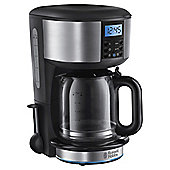 Russell Hobbs 20680 Buckingham Coffee Machine, Black & Silver