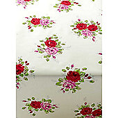 English Rose Garden 300cm x 135cm Oilcloth Tablecloth