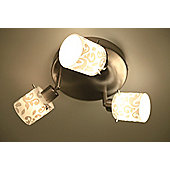 Brilliant Mailin Three Light Ceiling Spotlight - White - White