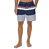 F&F Striped Mid Length Swim Shorts - Blue