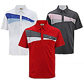 Woodworm Performance Wedge Mens Golf Polo Shirts 3 Pack Small